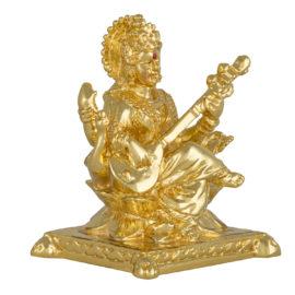Gold Saraswati Idol
