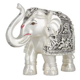 Silver Elephant Idol
