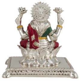 Silver Laxmi Idol